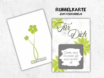 """25x Rubbelkarten """"Für Dich"""" - 4"""