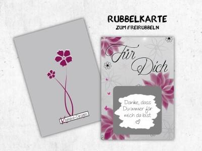 """25x Rubbelkarten """"Für Dich"""" - 5"""