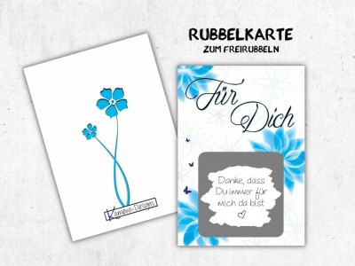 """25x Rubbelkarten """"Für Dich"""" - 2"""