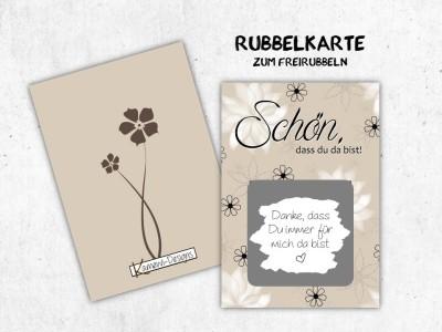 """25x Rubbelkarten """"Schön, dass Du da bist"""" - 2"""