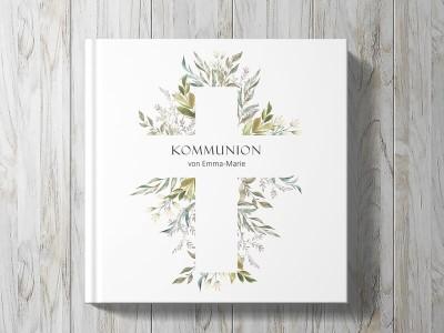 """personalisiertes Gästebuch """"Blumenkreuz"""" - 1"""