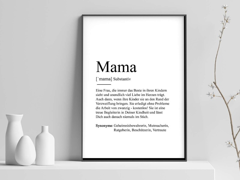 """Poster """"Mama"""" Definition - 1"""