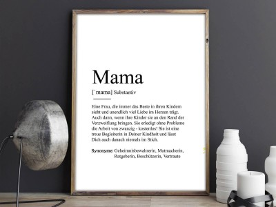 """Poster """"Mama"""" Definition - 2"""