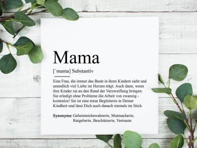 "Leinwandbild ""Mama"" Definition - 1"