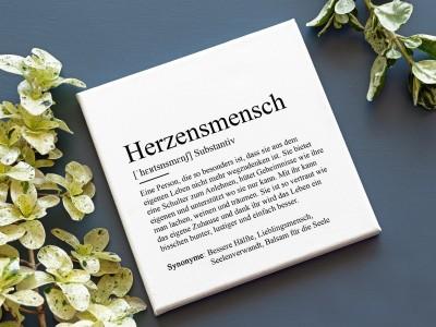"""Leinwandbild """"Herzensmensch"""" Definition - 2"""