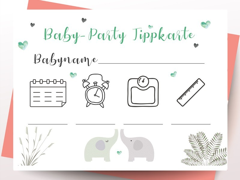 Tippkarten Babyparty - 1
