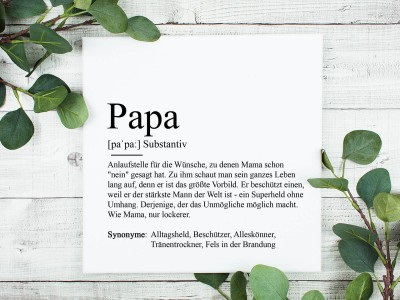 """copy of Poster """"Papa"""" Definition - 1"""