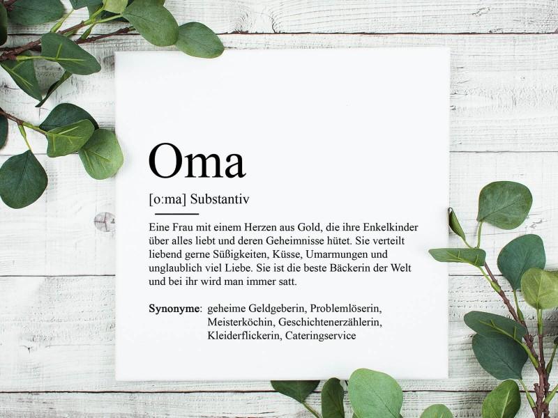 "Leinwandbild ""Oma"" Definition - 1"