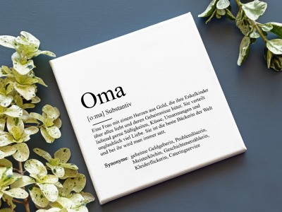 "Leinwandbild ""Oma"" Definition - 2"