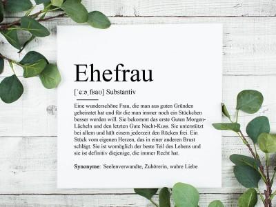 """copy of Poster """"Ehefrau"""" Definition - 1"""