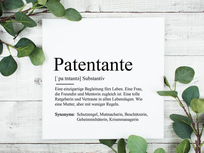 "Leinwandbild ""Patentante"" Definition - 1"