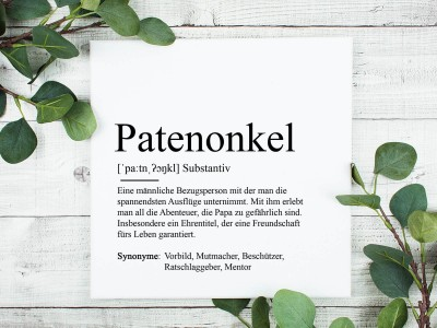 "Leinwandbild ""Patenonkel"" Definition - 1"