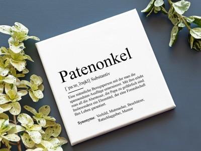 "Leinwandbild ""Patenonkel"" Definition - 2"