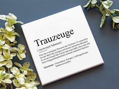"""Leinwandbild """"Trauzeuge"""" Definition - 1"""