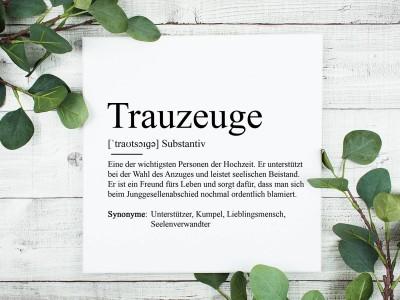 """Leinwandbild """"Trauzeuge"""" Definition - 2"""