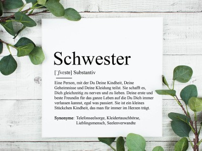 """copy of Poster """"Schwester"""" Definition - 1"""