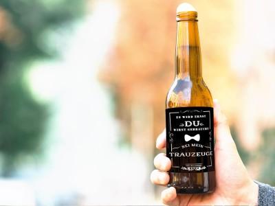 """Bier-Flaschenbanderole """"Trauzeuge"""" - 4"""
