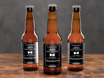 """Bier-Flaschenbanderole """"Trauzeuge"""" - 5"""