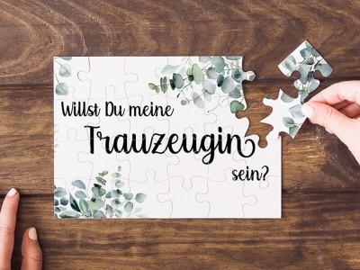 "Puzzle ""Trauzeugin"" Eucalyptus - 1"