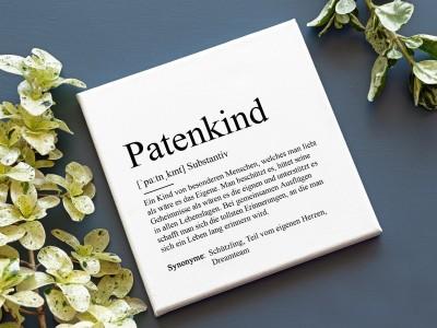 """Leinwandbild  """"Patenkind"""" Definition - 1"""