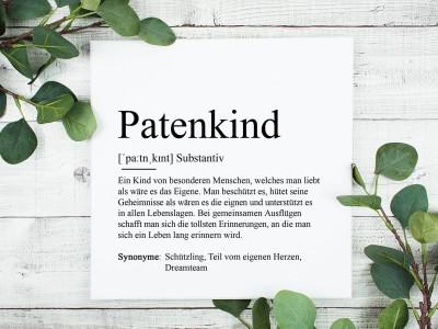 """Leinwandbild  """"Patenkind"""" Definition - 2"""