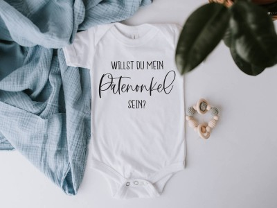 "Baby-Body ""Antrag Patenonkel"" - 1"