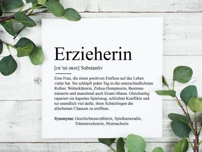 "copy of Poster ""Erzieherin"" Definition - 1"