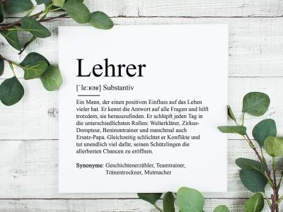 "copy of Poster ""Lehrer"" Definition - 1"
