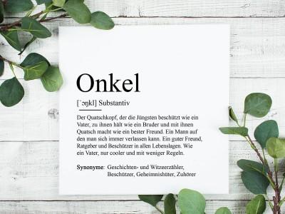 "Leinwandbild ""Onkel"" Definition - 1"
