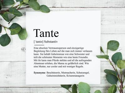 "Leinwandbild ""Tante"" Definition - 1"