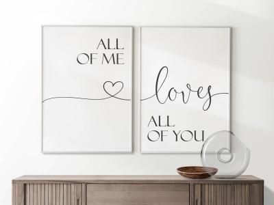 "2er Set Poster ""All Of Me Loves All Of You"" - 1"