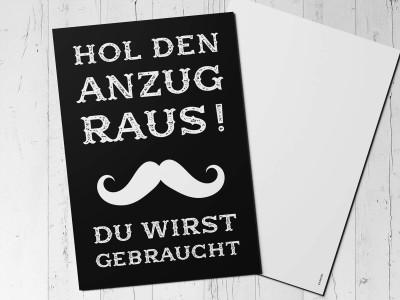 "Karte ""Hol den Anzug raus"" - 1"