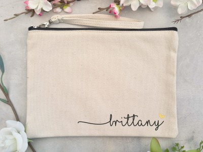 """Canvas Clutch """"Brittany"""" - 1"""