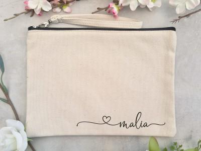 "Canvas Clutch ""Malia"" - 1"
