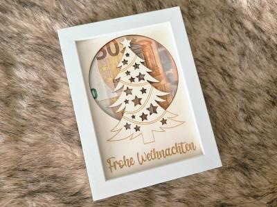 """Geldgeschenk Rahmen """"Frohe Weihnachten"""""""