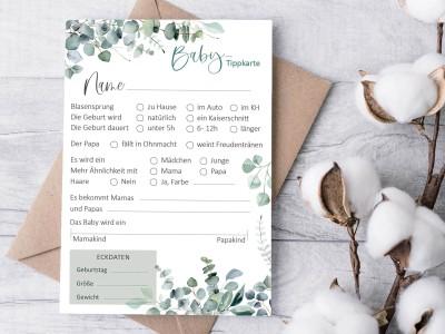 "Tipp- und Wunschkarten ""Eucalyptus"" - 1"