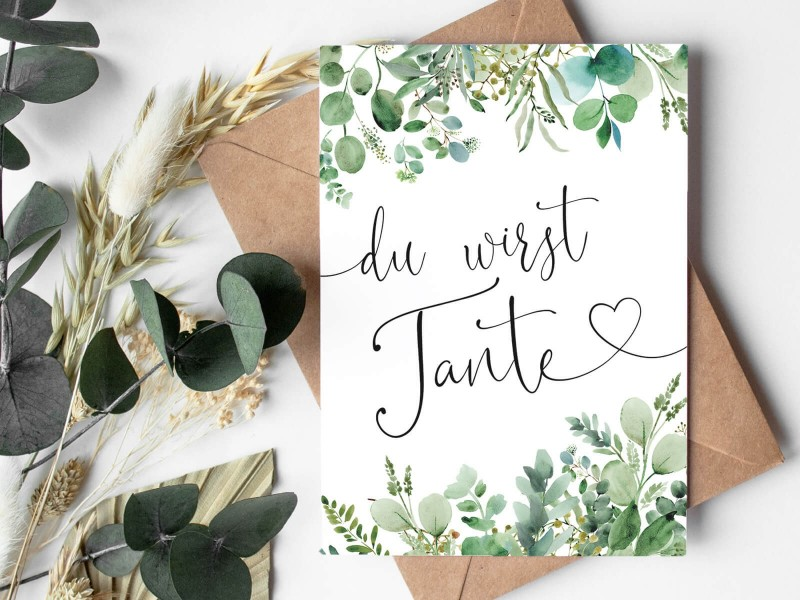 "Karte ""Tante"" Eucalyptus - 1"