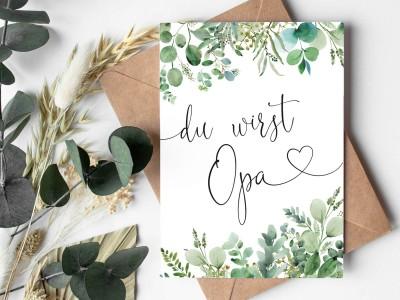 "Karte ""Opa"" Eucalyptus - 1"