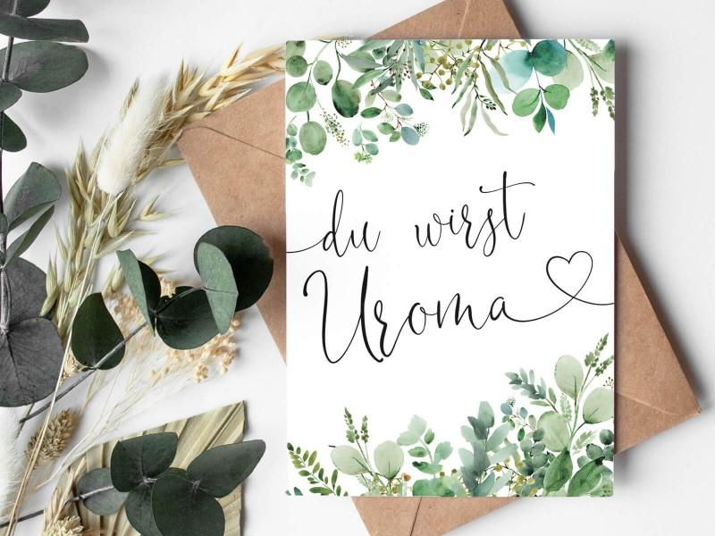 "Karte ""Uroma"" Eucalyptus - 1"