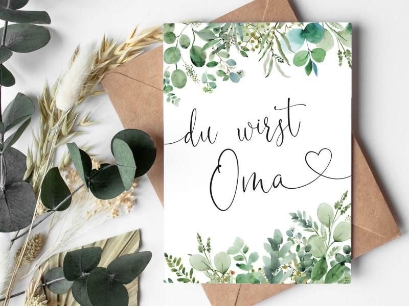 """Karte """"Oma"""" Eucalyptus - 3"""