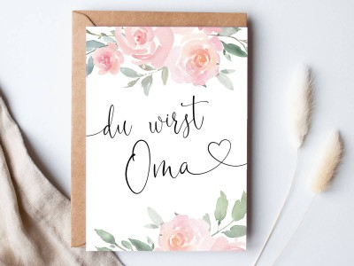 "Karte ""Oma"" Roses - 1"