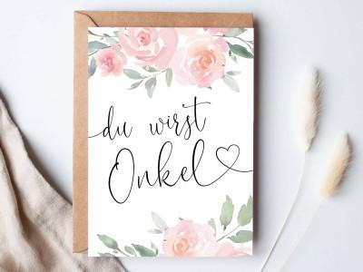 """Karte """"Onkel"""" Roses - 1"""