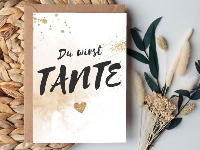 """Karte """"Tante"""" Glitter - 1"""