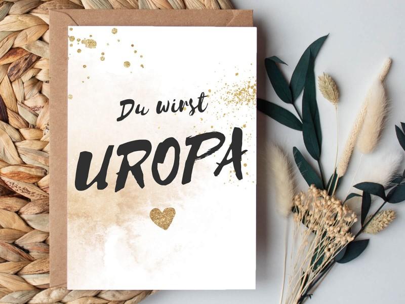 "Karte ""Uropa"" Glitter - 1"