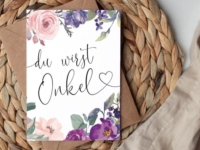 """Karte """"Onkel"""" Blossom - 1"""