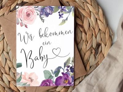 """Karte """"Wir bekommen ein Baby"""" Blossom - 2"""