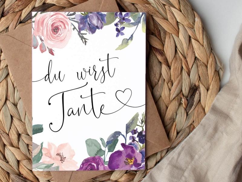 """Karte """"Tante"""" Blossom - 1"""