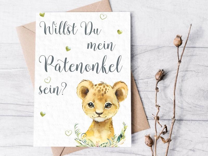 """Karte """"Patenonkel"""" Löwe - 1"""