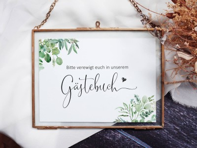 "Gästebuch-Schild ""Minimalistic"" - 1"