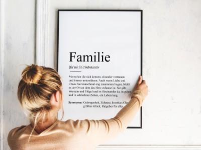 "Poster ""Familie"" Definition - 2"